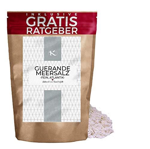250 g Sal fina de Guerande / Sal gris | Sal integral de Guerande | Sal fina para Botanas Sushi| Ingrediente para hacer papas fritas | Para hacer un helado de ahuacate con sal de guerande