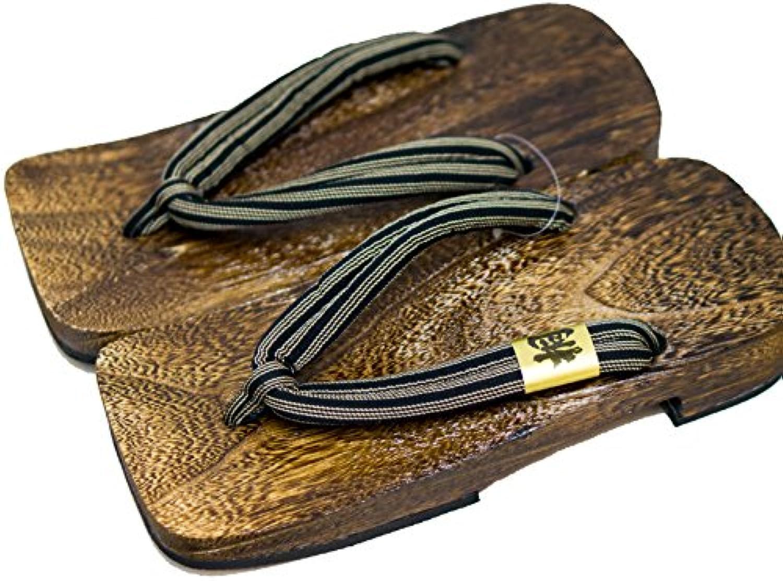 PC Hardware Store [Japón Hecho] para Hombre Geta Paulownia Sandalias de Madera Tradicional de Calzado Shima Diseño...