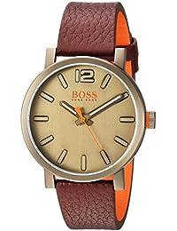 d795cfcebb5b Hugo Boss de Hombre de Bilbao de Cuarzo Reloj Casual de Piel y Acero  Inoxidable