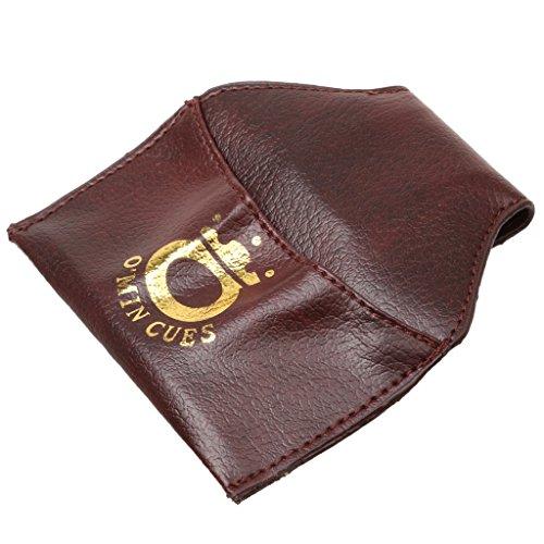 PU Leder Kreidehalter, Billiardkreide Halter/Tasche/Beutel mit Gürtel Clip für Billard Snooker - Farbe Auswählbar - Braun