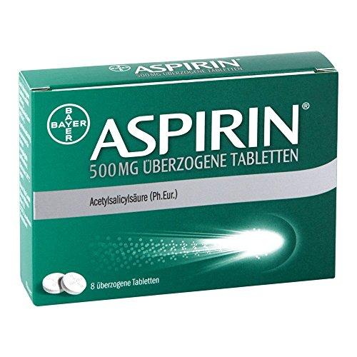 Aspirin 500 mg überzogene Tabletten, 8 St. Tabletten