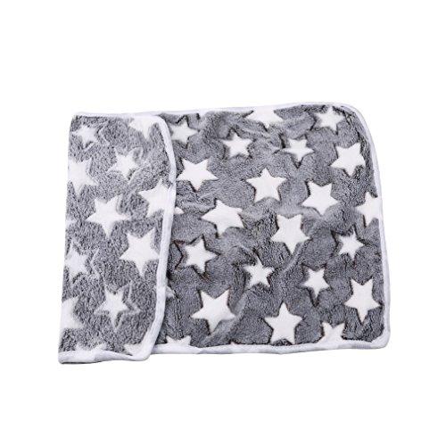 Yinew Haustier-Decke, sehr weich und Fluffy für Haustiere, Hunde/Katzen/Welpen/Kätzchen mit Decke, Gray Stars, S