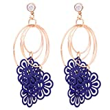 Blissdrizzle Earrings with Coloured Meta...