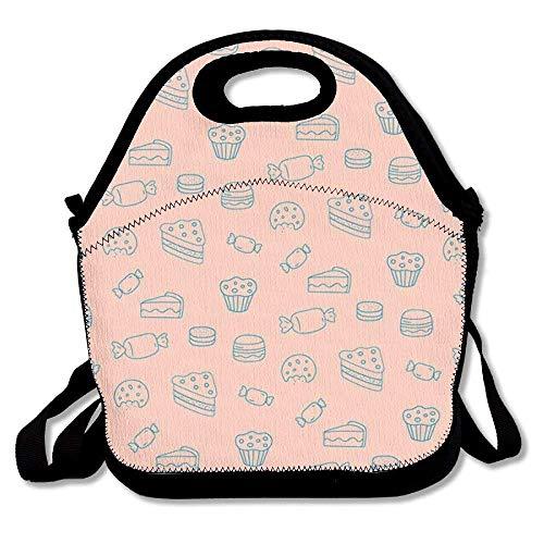 Dozili Lunch-Tasche, groß, dick, Neopren, isoliert, für Kuchen, Kuchen, Kuchen, Kühler, warm, mit Schultergurt, für Damen, Teenager, Mädchen, Kinder und Erwachsene