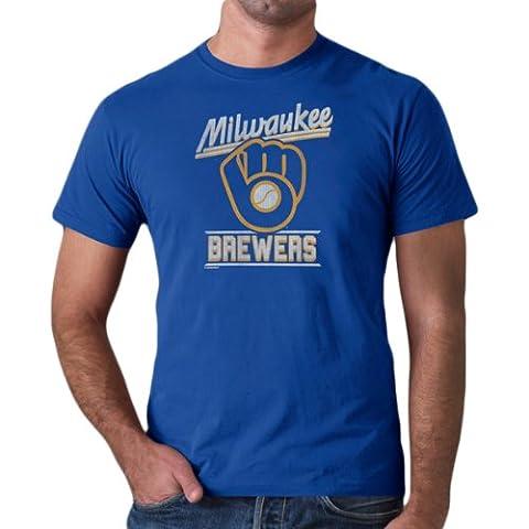 47 Brand Milwaukee Brewers Fadeaway Blue MLB T-Shirt (S)