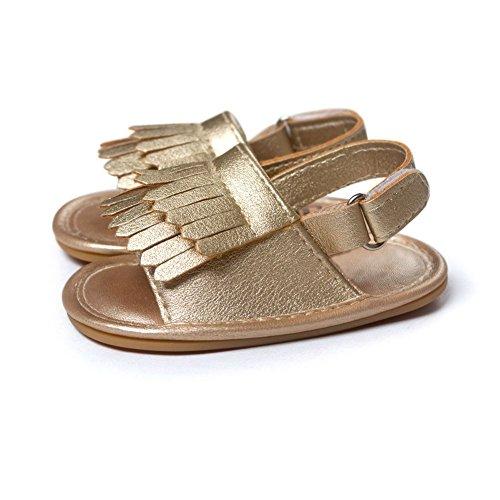 Moresave , {Chaussures premiers pas pour bébé (garçon) Doré