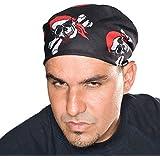 Piraten Bandana Kopftuch 12 Stück in 3 Motiven mit 12 Piraten Kinder Tattoos
