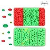 Perlen für Angeln verschiedene Größe verschidenne Farbe Leuchtperlen (Grün)