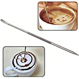 Pinkdose® Coffee Decoration Coffee Latte Art Pen Tool For Coffee Espresso Machine Stainless Steel Pull A Fancy Stitch Bs
