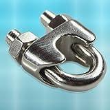 PRIOstahl® Drahtseilklemme 10 X Bügelklemmen 4 mm EDELSTAHL V4A Klemme Drahtseil Seilklemme