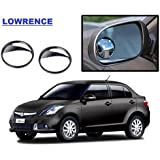 "2 Pcs 2"" Wide Angle Convex Rear Side View Blind Spot Car and Bike Mirror for - Maruti Suzuki Swift Dzire New (By Lowrence)"