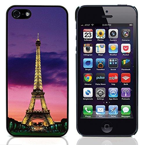 Graphic4You Paris At Night Skyline View Postkarte Ansichtskarte Design Harte Hülle Case Tasche Schutzhülle für Apple iPhone 5 und 5S Design #5