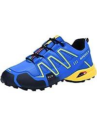 FOANA Zapatillas Deportivas Antideslizantes para Hombres Zapatillas Senderismo Zapatillas Deportivas para Deportes al Aire Libre