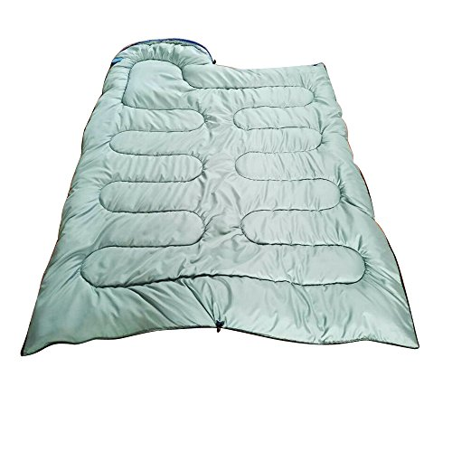 Amila Comfort Lightweight Portable, Easy to Compress, Envelope Sleeping Bags with Compression Bag (Blue)