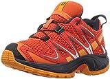 Salomon Kinder XA Pro 3D Trailrunning/Outdoor-Schuhe, Orange/Rot (Scarlet Ibis/Fiery Red/Night Sky), Gr. 27