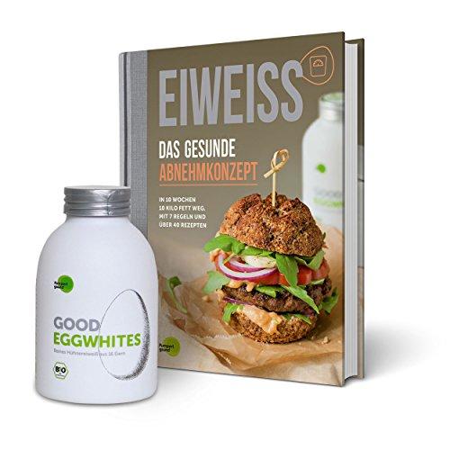 Eiweiß-Paket 'Gesundes Abnehmen': 1 Flasche Good Eggwhites (Bio-Eiklar) & das Abnehm-Buch v. Pumperlgsund
