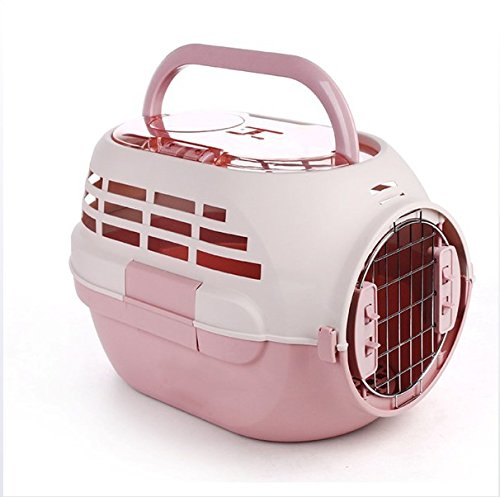 Coupon Matrix - Ffion Pet Travel Carrier Sunroof Car Box Shipping Box Travel Out Small Dogs And Cats Breathable Safety Pet Supplies