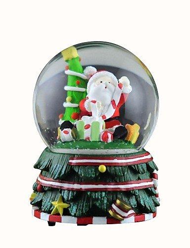 ZQ nevica Babbo Natale sfera di cristallo con 8 suono carillon di Natale.
