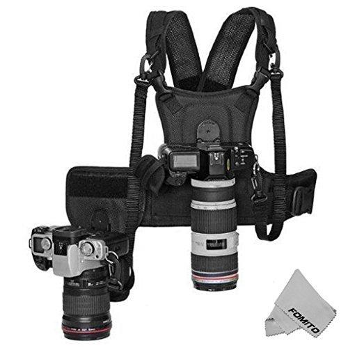 Fomito Multi Doppel Kamera Dual Tragend Fotograf Top mit seitlichem Holster Für Canon Nikon DSLR