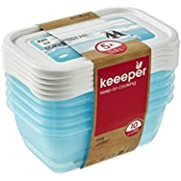 keeeper MIA Polar Botes para Alimentos, PP, Ice Blue (Transparent), 5X 500 ml, 5 Unidades