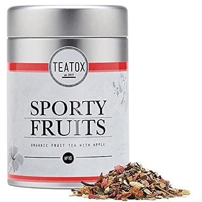 TEATOX Sporty Fruits, Infusion fruit bio avec pomme et hibiscus, boîte