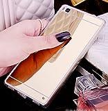 Coque miroir Silicone Tpu pour Huawei P8 Lite (5.0 Pouces) en Or [pas pour Huawei P8 Lite 2017]