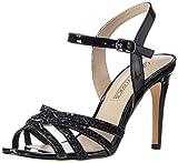 Buffalo Shoes Damen 15S90-2 PATENT PU Glitter Knöchelriemchen, Schwarz (Black 01), 39 EU