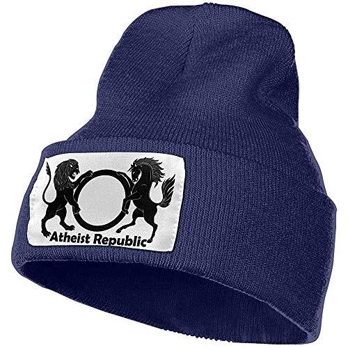 Quintion Robeson Atheist Republic MenandWomen Warme Winter Strickmütze Skull Cap Acryl Strickmütze