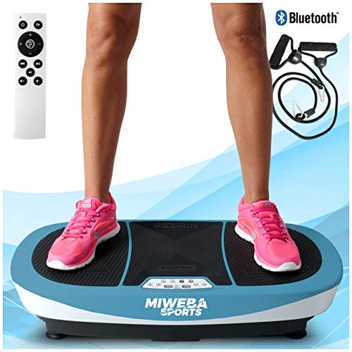 Miweba Sports Fitness Vibrationsplatte MV200 – 3 Vibrationsmodi – Horizontal – Vertikal – Oszillierend – 400 Watt (Blau)