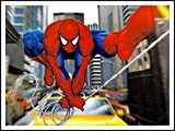 imagenation The Amazing Spiderman 'Swinging en la calle'?60cm x 80cm impresión en láminas autoadhesivas papel Póster
