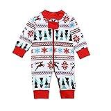 Yazidan_Weihnachten Kleinkind Baby Neugeborenes Jungen MäDchen Rotwild-Schneeflocke-Druck Spielanzug Overall Kleider Einstellen Warm Winter Kapuzenpullover Oberteile Hose Outfits(Mehrfarben,70)