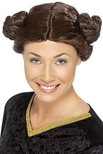 Prinzessin Kostüme Lea (Prinzessin braune Perücke für Damen Prinzessinnenperücke Mittelalter Lea Fasching Damenperücke Karneval braun zum Kostüm Schnecken)