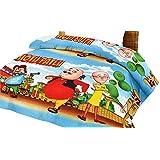 Lali Prints Kids Motu Patlu Microfibre Single Quilt AC Blanket, Multicolour