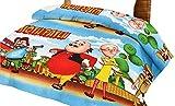 #10: Lali Prints Kids Motu Patlu Microfibre Single Quilt AC Blanket, Multicolour
