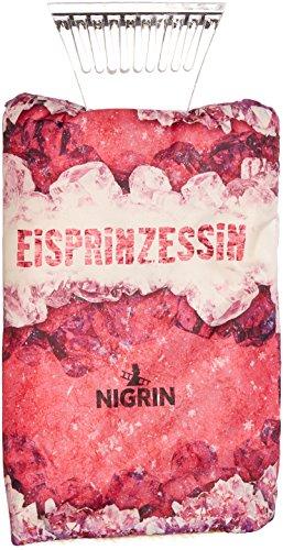 NIGRIN 71318 Eisschaber mit Handschuh im Eisprinzessin-Desgin, mit Polycarbonat-Schabkante -