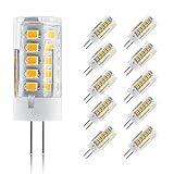 Ascher 10 Stücke G4 5W LED Lampe 33 X 2835 SMD Leds - Ersetzt 30W [Warm-Weiß ,300LM,AC/DC 12V,LED Leuchtmittel, 360° Abstrahlwinkel]