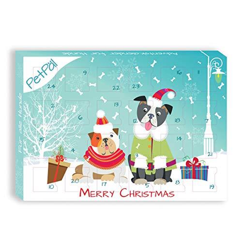 PetPäl Dogs Calendrier de l'Avent 2019 | Les collations et gâteries Les Plus savoureuses pour Votre Chien à Noël | Friandises saines - sans céréales ni Gluten ni Sucre ni Colorant Artificiel