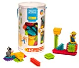 SEEKO Blocks BA3002 - Konstruktionsspielzeug Tube Farm m.2 Figuren, 80 Stück