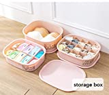 #4: Set of 3 Plastic Innerwear, Socks and Clothes Organisers with Lid by House of Quirk for Drawer, Closet Organizers, Under Bed Storage -10 Grid, 15 Grid and Empty Box (PINK)