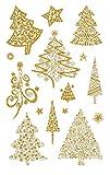 AVERY Zweckform 52273 Weihnachtssticker Weihnachtsbäume 30 Aufkleber
