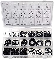 DIY Crafts 225 pcs/lot Black Rubber O Ring Assortment Washer Gasket Sealing O-Ring Kit 18 Sizes with Plastic B