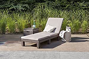 2er set allibert daytona sonnenliege kunststoff gartenm bel rattanoptik braun. Black Bedroom Furniture Sets. Home Design Ideas