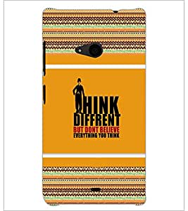 PrintDhaba Quote D-4122 Back Case Cover for MICROSOFT LUMIA 535 (Multi-Coloured)