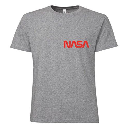 ShirtWorld NASA Worm Logo - T-Shirt Grau Melange