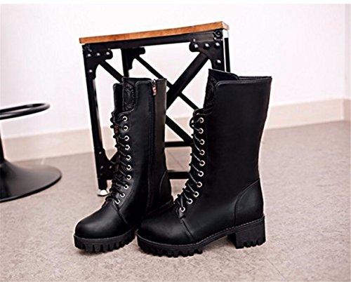 THk&M Meine Damen Stiefel Winter plus Unit im Faß, flache Unterseite, runder Kopf vorne Kabelbinder 6,5 cm, 36 Kabelbinder Runde