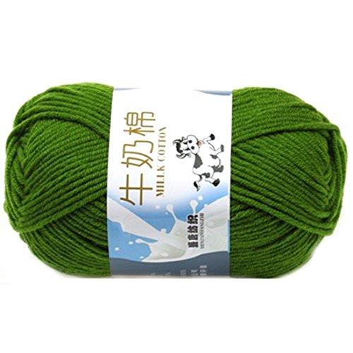 Glatte weiche Milch Cotton Natural Hand Strickwolle Garn Ball Baby Wool Craft Grün
