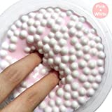 Slime Toy, Popular Pressure Reducing Toy, ZZM Birthday Cake Scented Floam Slime Clear Toy 100ml (White)