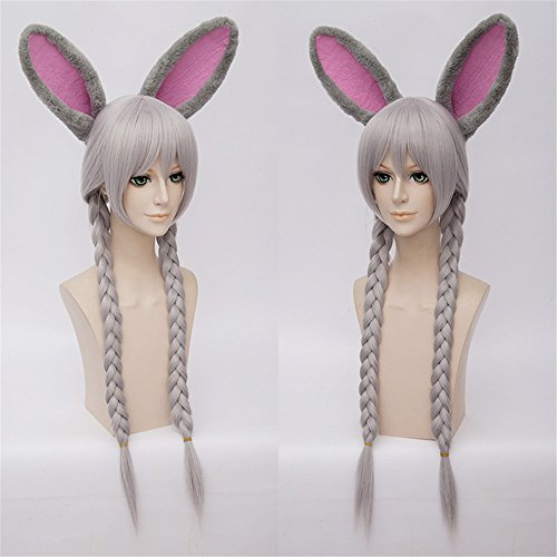 LanTing Cosplay Wig Zootopia Judy Hopps Silvery Long Wigs Styled Frauen Cosplay Party Fashion Anime Human Costume Full wigs Synthetic Haar Heat Resistant Fiber