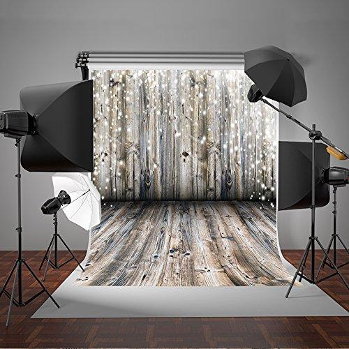 1,5 x 2,1m Kate Weihnachten Retro Hintergrund Fotografie HOLZ WAND UND HOLZ Boden Studio Hintergrund weißen Lichtern für