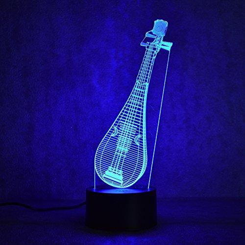Musikinstrument 3D Nachtlicht Illusion Lampe LED Kinder Deko Licht Stimmungslicht Fernbedienung Nachttischlampe 7 Farben ändern Touch Switch Schreibtisch Lampen Geburtstagsgeschenk Weihnachtsgeschenk